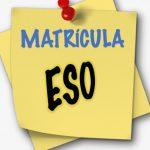 Matrícula en ESO. Curso 2021-2022